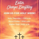 Holy Week Live-stream Schedule