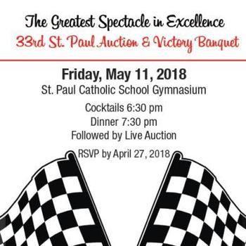 33rd Annual St. Paul Catholic School Auction May 11th
