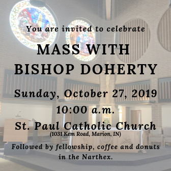 Celebrate Mass with Bishop Doherty