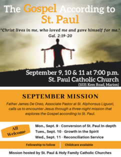 September Mission - Reconciliation Service