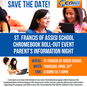 Save The Date: April 26th Chrome Book Roll Out Parent Information Night!