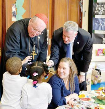 Catholic New York: Mayor & Cardinal Visit SFA/Corry Academy!