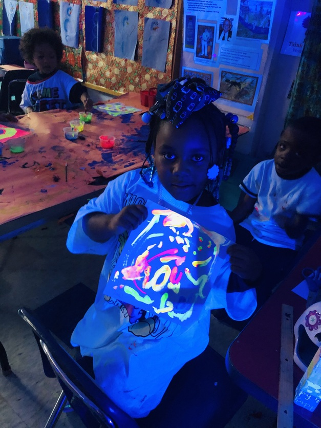 PreK loves Ms. Miele's Magic Paint