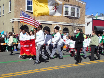 St. Anthony School Marches- St. Patrick Day Parade