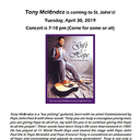 Tony Melendez is coming to St. John's