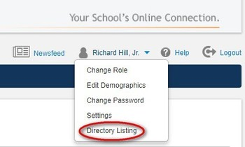 School directory on PLUSPORTALS