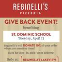 Reginelli's Fundraiser Night - April 17