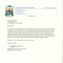 Letter from Archbishop Aymond to St. Dominic School