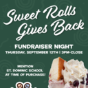Give-Back Night at Sweet Rolls - 9/12