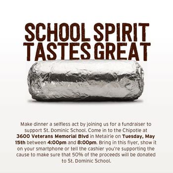 Chipotle Fundraiser Night - May 15