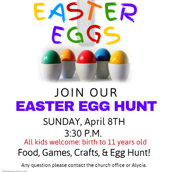 Reschedule Easter Egg Hunt- April 8, 2018