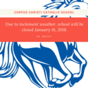 SCHOOL CLOSED Jan 16, 2018
