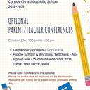 PARENT / TEACHER CONFERENCES 10.22.2018