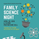FAMILY SCIENCE NIGHT April 20
