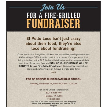 Spirit Night @ El Pollo Loco