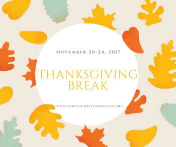 Thanksgiving Break Nov. 20-24