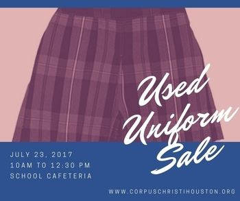 Used Uniform Sale - July 23