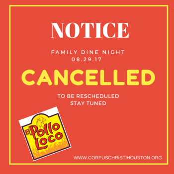 Family Dine 08.29.2017 - Cancelled