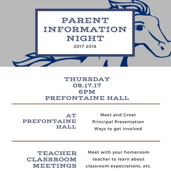 Thursday 08/17 - Parent Information Night