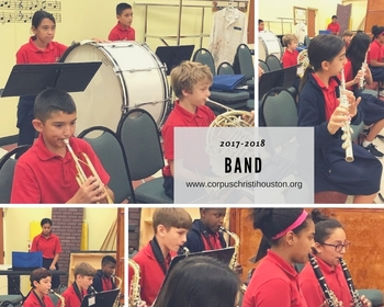 Our Band students hard at work!