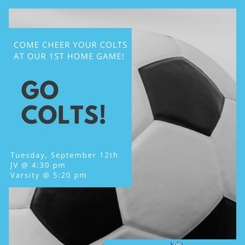 Soccer Game Tuesday, September 12th
