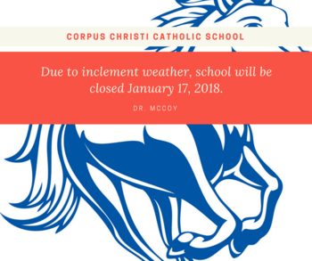 SCHOOL CLOSED JAN 17TH