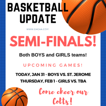 Basketball Game (BOYS) semi-finals