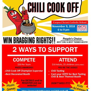 Steps for Students Chili Cook Off
