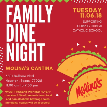 Family Dine Out @ Molina's Catina, 3801 Bellaire