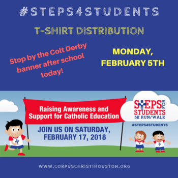 Steps 4 Students T-shirt Distribution today!