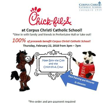 Chik-fil-A Fundraiser February 22nd!