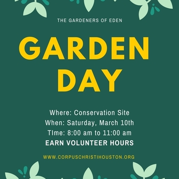 Garden Day Saturday, March 10th
