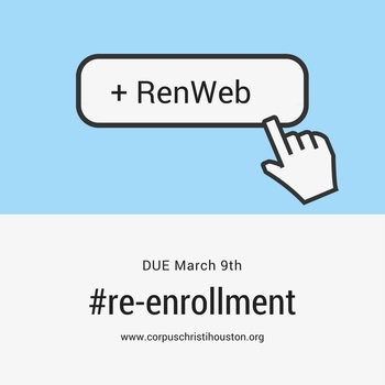 Re-Enrollment Time Due March 9