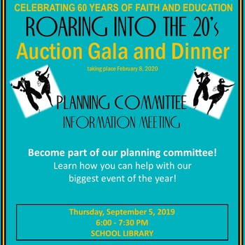 Auction Gala Planning Meeting - September 5, 2019