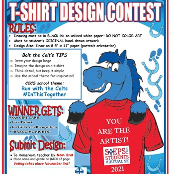 Steps for Students T-shirt contest entry deadline today!