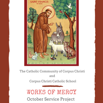October Works of Mercy Service Project - Pet Food Drive