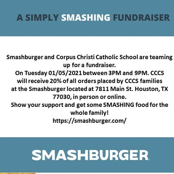 Family Dine Night at Smashburger Jan 5!