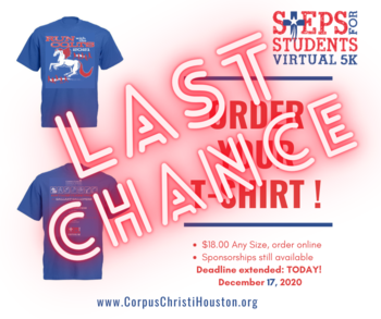 Order your Steps T-shirt today! Deadline extended to December 17
