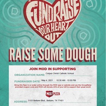 Family Dine Night at Mod Pizza May 4