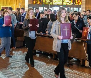 Rite of Election Welcomes New Catholics