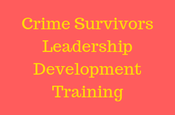 Crime Survivors Leadership Training