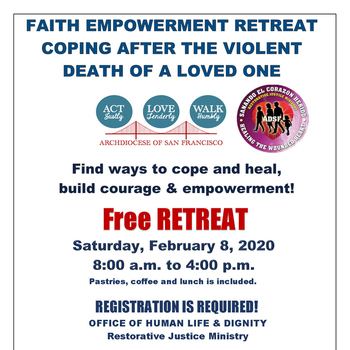 Crime Survivors Retreat  <br /> for friends and families of a loved one after a violent death