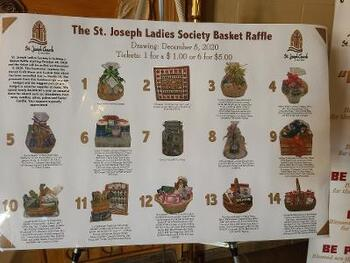 LADIES SOCIETY BASKET RAFFLE-DECEMBER 5TH