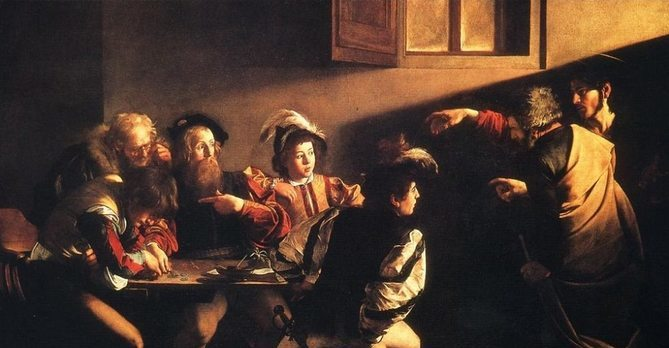 The Calling of St. Matthew, 1600, Caravaggio