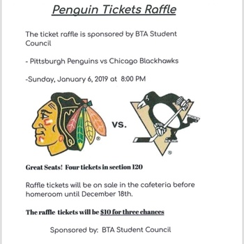 Student Council Penguins Game Ticket Raffle