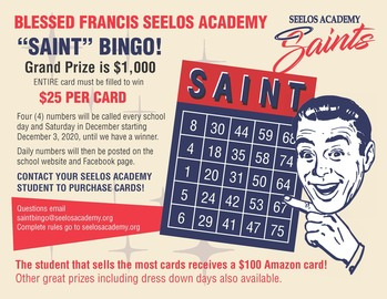 Virtual SAINT Bingo