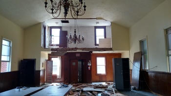 Fealy Hall restoration resumes! Mid December is goal for completion.