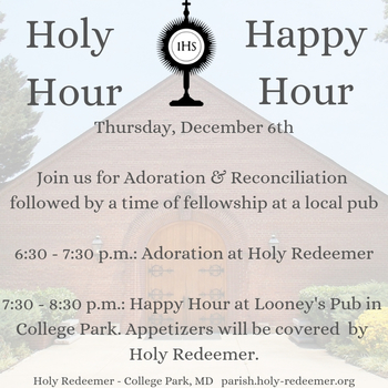 Young Adult Holy Hour & Happy Hour