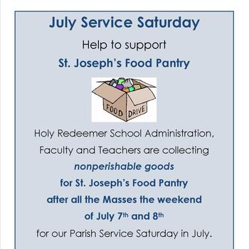 July Service Saturday