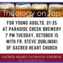 Theology on Tap for Young Adults, Tuesday, November 19, 7 p.m.